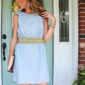 Madewell Dresses - Madewell Chambray Ruffle Dress